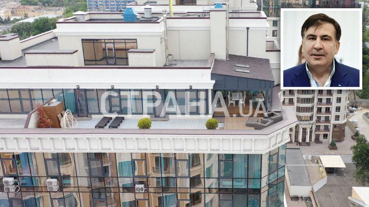 «Примерно за 3 миллиона гривен» В Сети показали роскошные апартаменты Саакашвили в Одессе. «С личной крышей»