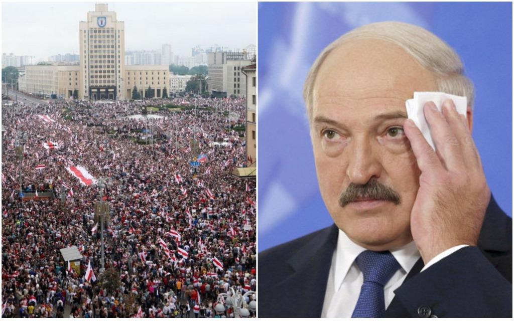 Началось! Их уже не менее 100 тысяч. В Минске проходит немыслимое: колонны все не заканчиваются. Лукашенко побледнел