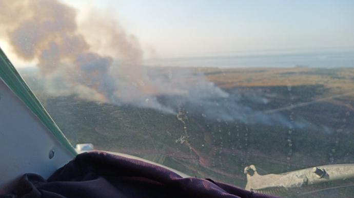 Более 100 человек и 30 единиц техники. Во время учений вспыхнул масштабный пожар: борьба с огнем продолжается