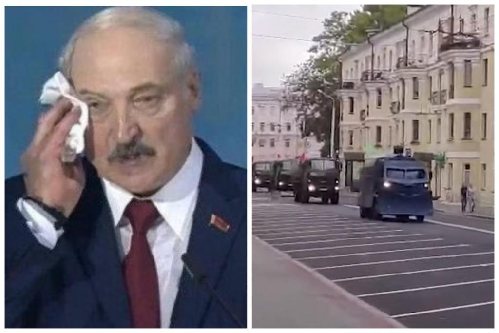Стянули военную технику — улицы перекрыты! Силовики запугивают белорусов. Настоящая истерика — «Это незаконно»