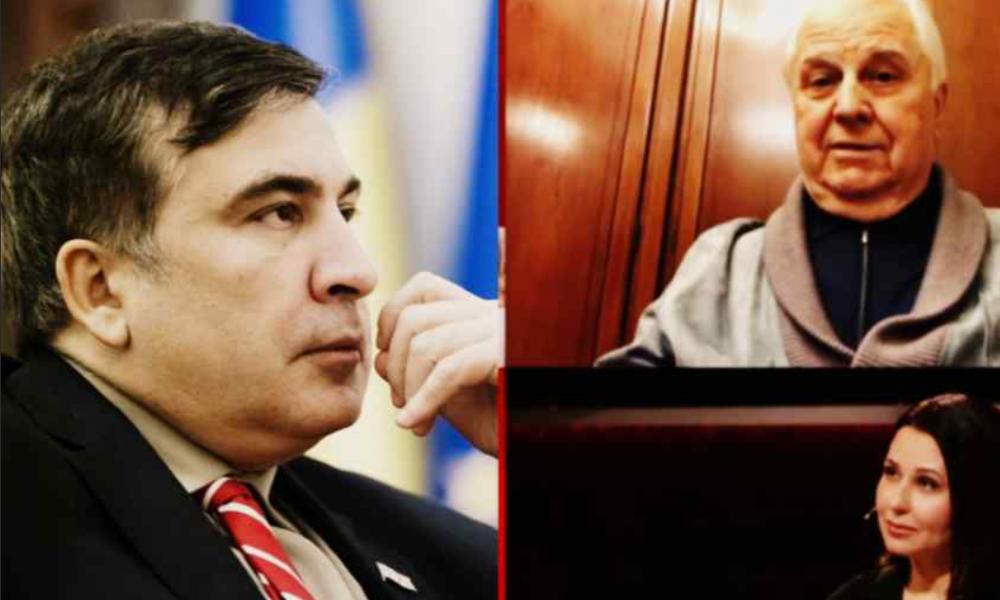 Только что! Саакашвили врезал, Кравчук аплодирует -стали вместе. Зеленский такого не ожидал-просто в СНБО