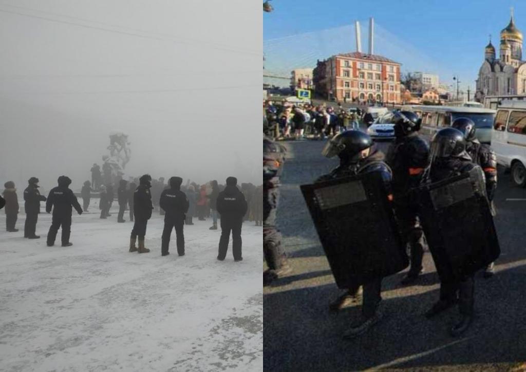 Просто сейчас! В России происходит немыслимое — люди вышли на улицы. ОМОН озверел — схватки и задержания