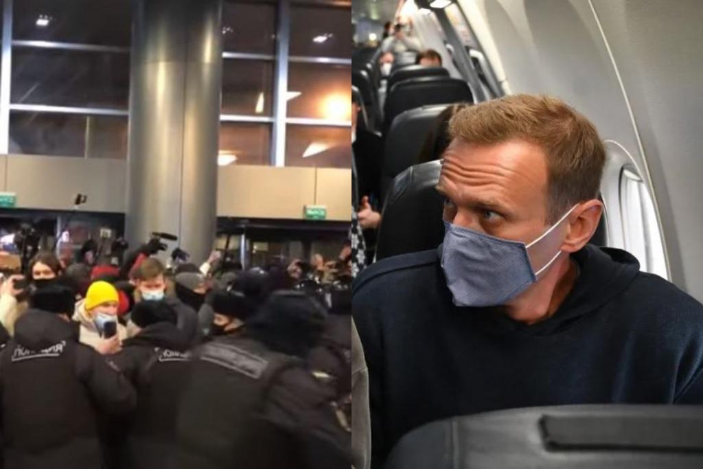Навальный в шоке! В аэропорту происходит немыслимое — массовые задержания, полиция вытесняет людей. Весь мир в ожидании!