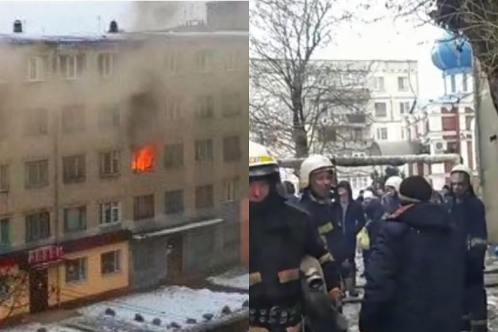 Просто в день траура! Трагедия в Павлограде — пожар в общежитии. Людей спасают прямо из окон!