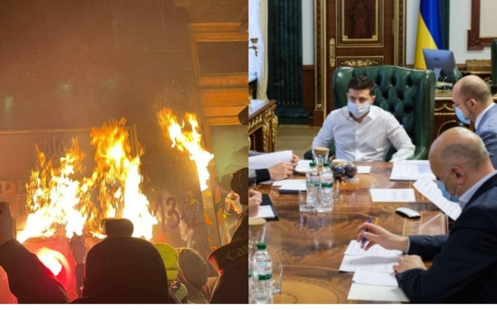 После протеста! У Зеленского снесли — дикость! Банковая на ногах — президент собирает всех: провокация