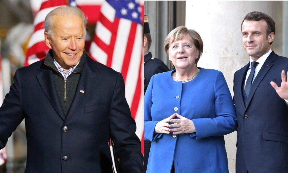 Срочно! Личный визит — прямо в Украину: Меркель, Байден и Макрон — для сопротивления российской агрессии! Уже ждут
