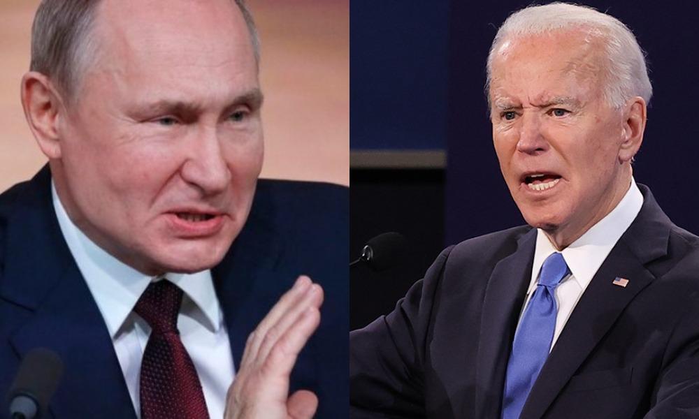 Острые приступы психоза! Байден влупил: более жесткие санкции — Путин в истерике: прямо у границы, играет в психической!