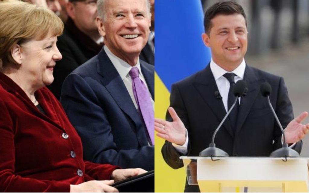 Агрессии не устоять! Меркель поддержала — четкая позиция! Вашингтон на связи: Зеленский аплодирует!