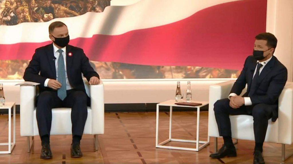Зеленский на саммите лидеров 5 стран сказал, что война на востоке Украины и оккупация Крыма — это война в Европе