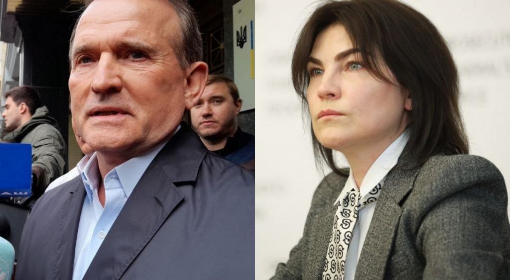 Медведчук вышел от Венедиктовой и заявил, что ознакомился с предъявленным ему подозрением