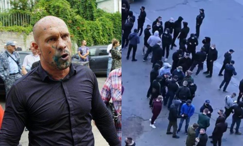 Ветераны «Азова» хотели поговорить с Кивой, но тот побоялся