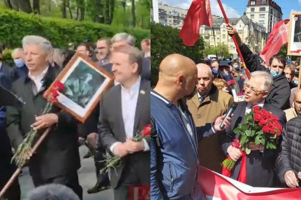 Как проходит 9 мая в столице: Марш ОПЗЖ и появление Симоненко у Вечного огня