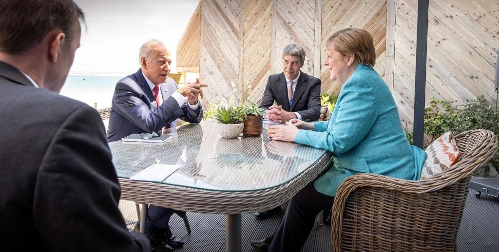 Обсудили Украину и «Северный поток-2»: Ангела Меркель провела встречу с Джо Байденом