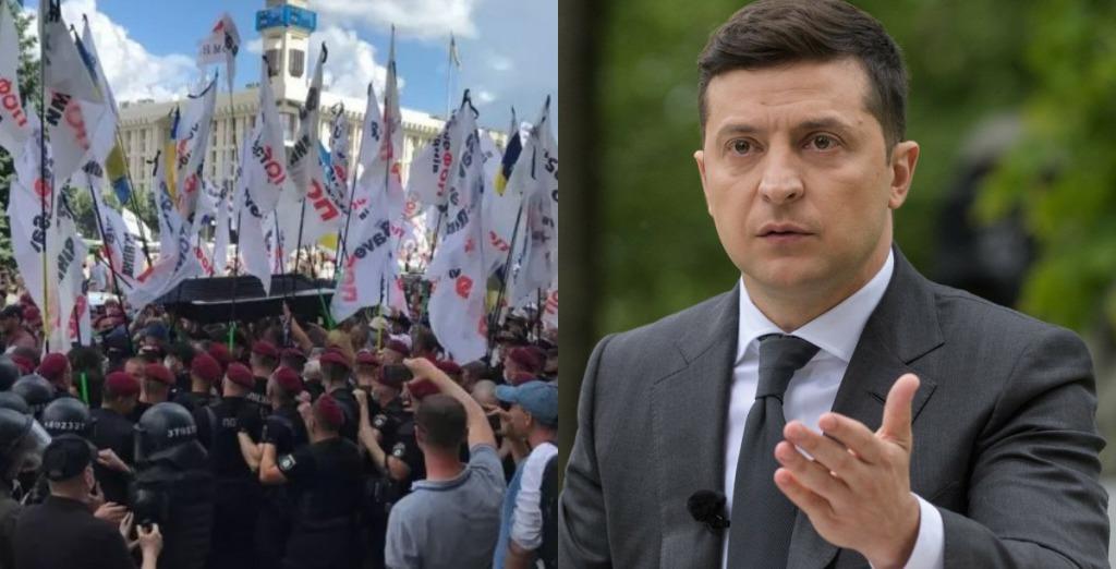 Просто в центре Киева! ФОПы вышли — погребальные венки, гробы и столкновения: у Зеленского не стали молчать!