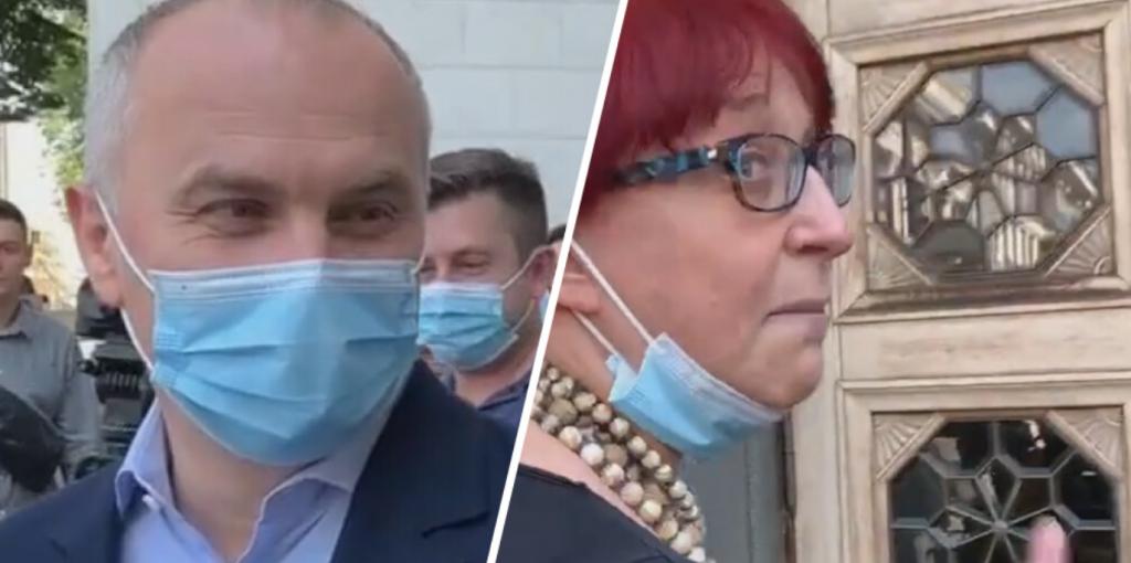 «Осталось только обкуриться!»: Шуфрич и Третьякова поссорились возле Рады — на глазах у журналистов