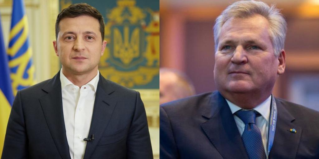 Только что! Експрезидент Польши Александр Квасьневский в восторге от нашего президента. Зеленский людям нравится — это важно