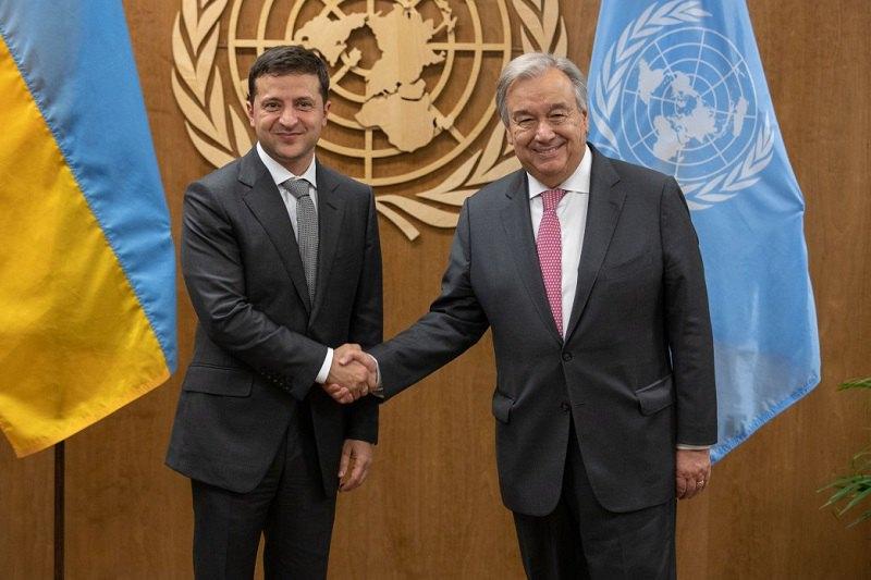 Только что! Зеленский встретился с генсеком ООН. Передал ему список. Вызов российской агрессии «450 украинских политзаключенных».